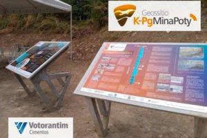 Geossitio K-Pg Mina Poty - Logo e Painéis Eleva BD
