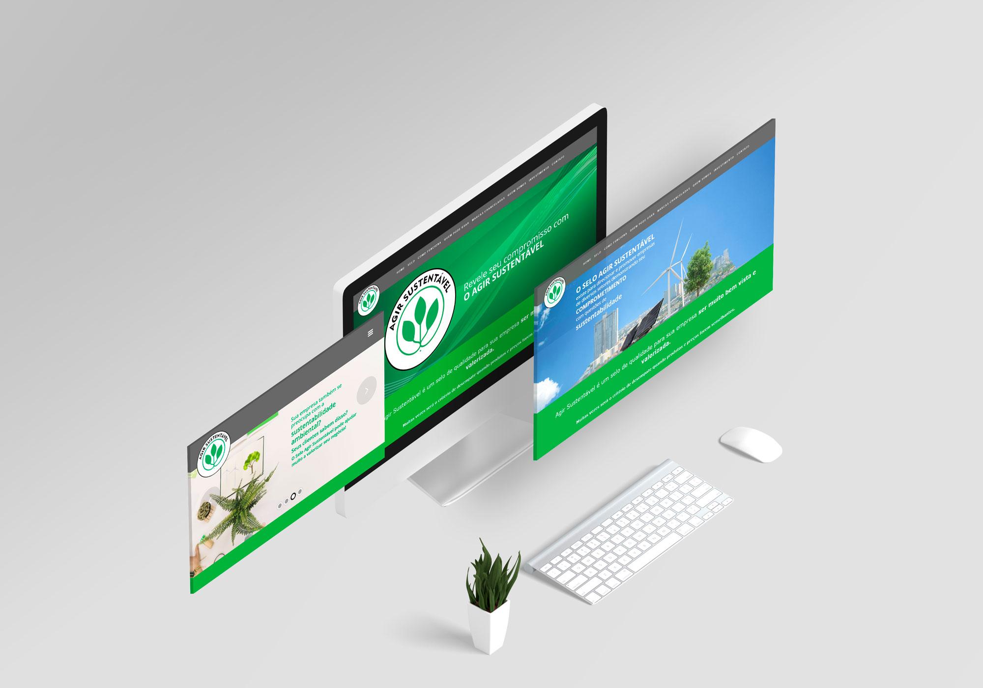 Site da Agir Sustentável desenvolvido pela ElevaBD
