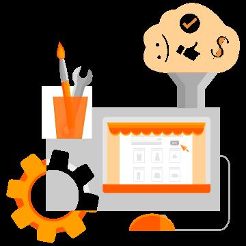 imagem serviço criação de sites e e-commerce