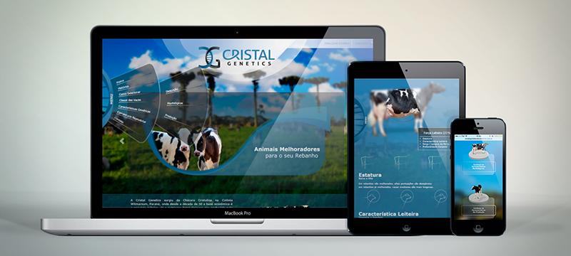 imagem texto blog Desenvolvimento de e-commerce: Cristal Genetics