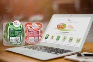 Imagem Marketing Digital, site e rótulos da Chácara Bertolin