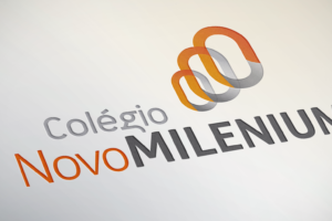 Imagem redesign logo Colégio Novo Milenium
