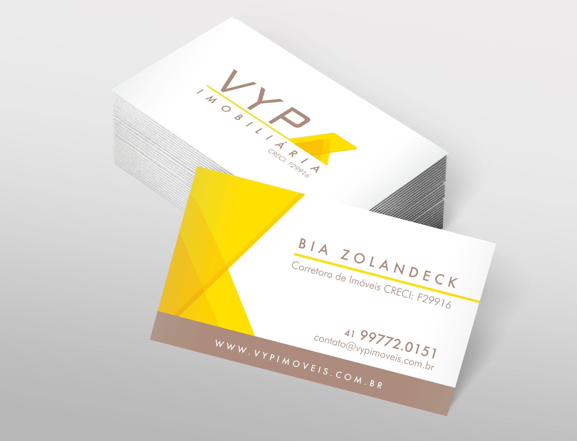 Cartão de Visita da VYP desenvolvido pela ElevaBD