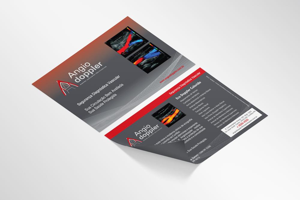 Flyer Angiodoppler desenvolvido pela ElevaBD