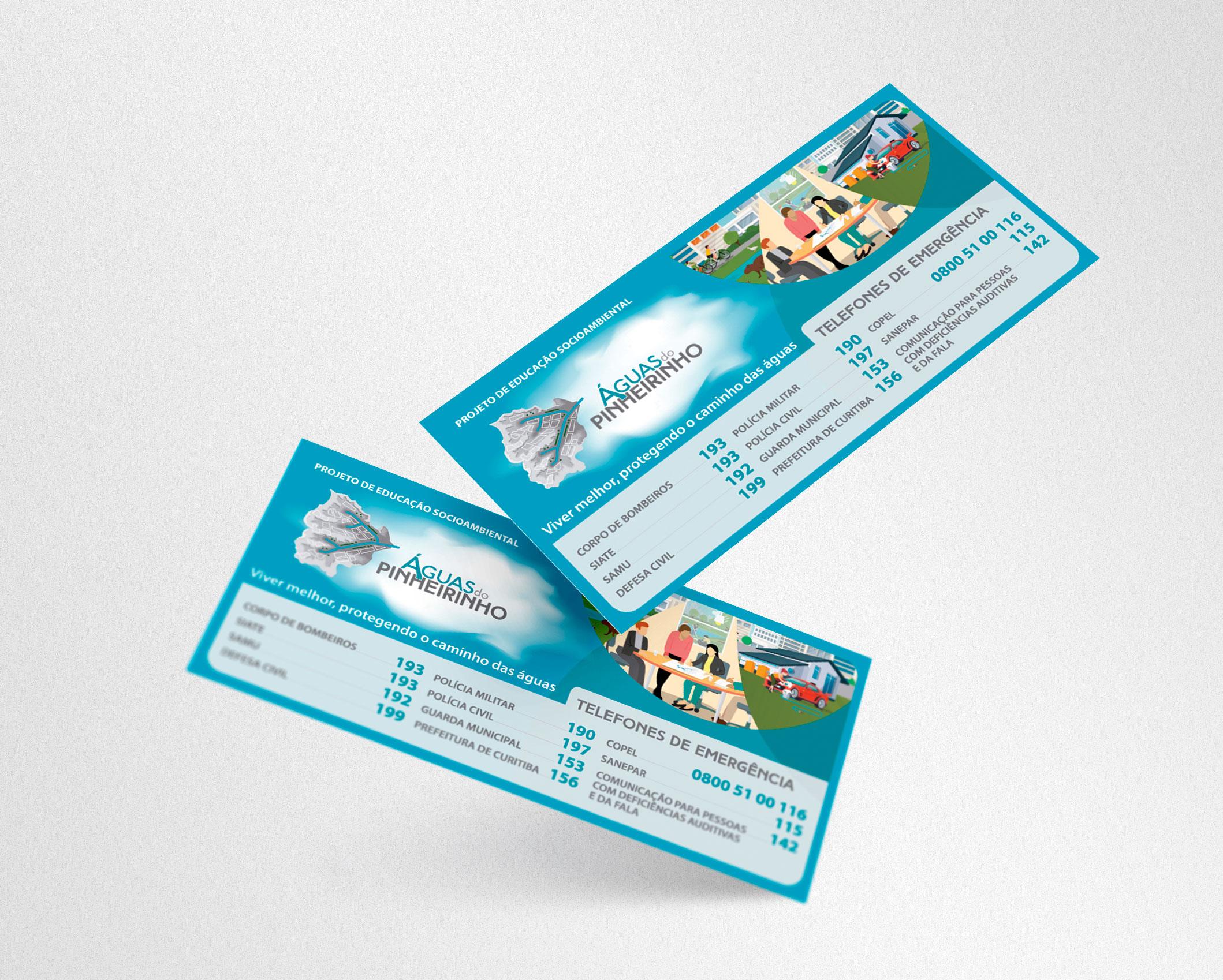 Folheto Imantado Águas do Pinheirinho desenvolvido pela ElevaBD