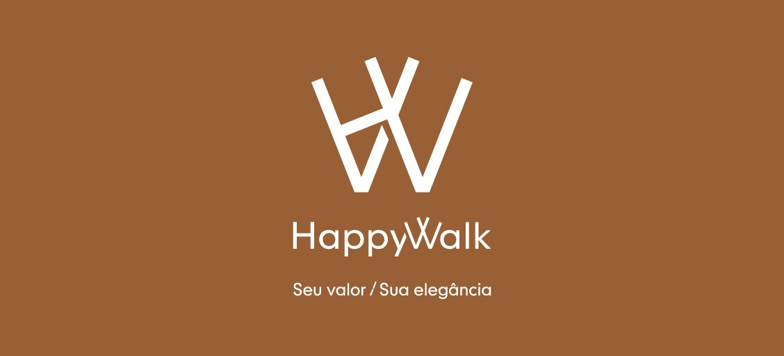 Logo Happy Walk desenvolvida pela ElevaBD