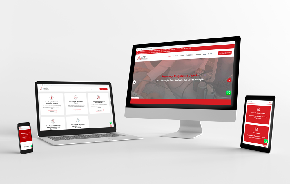 Site da Angiodoppler desenvolvido pela ElevaBD